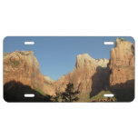 Court of the Patriarchs at Zion National Park License Plate