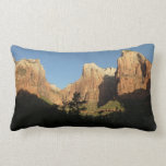 Court of the Patriarchs at Zion National Park Throw Pillow