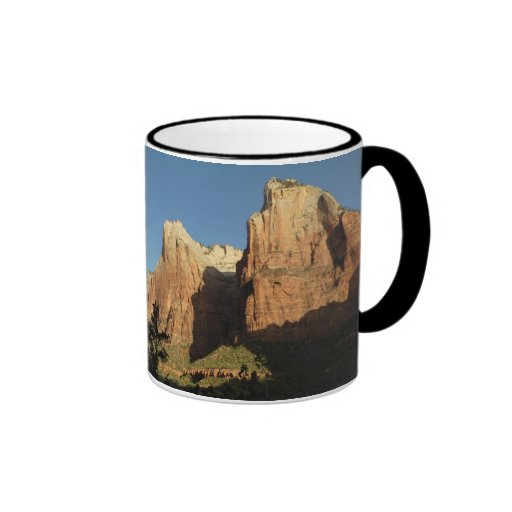 Court of the Patriarchs in Zion National Park Ringer Coffee Mug
