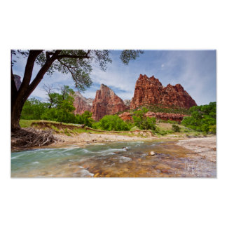 Court of the Patriarchs in Zion National Park Poster