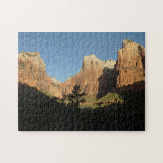 Court of the Patriarchs in Zion National Park Jigsaw Puzzle
