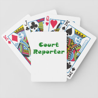 Court Reporter Bicycle Playing Cards