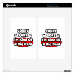 Court Reporter ... Big Deal Kindle Fire Decals