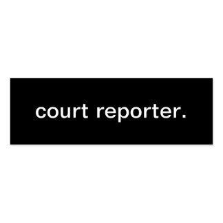 Court Reporter Business Card