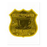 Court Reporter Caffeine Addiction League Postcards
