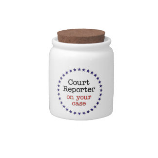 Court Reporter Case Candy Jar
