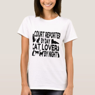 Court Reporter Cat Lover T-Shirt