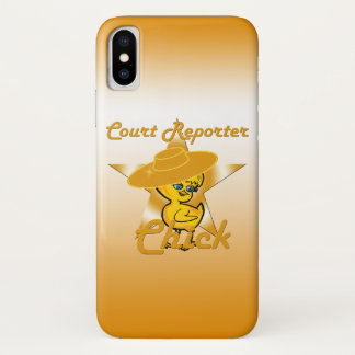Court Reporter Chick #10 iPhone X Case