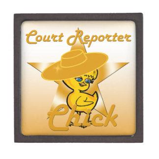 Court Reporter Chick #10 Jewelry Box