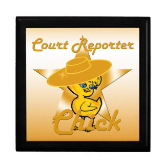 Court Reporter Chick #10 Keepsake Box