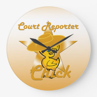 Court Reporter Chick #10 Large Clock