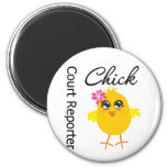 Court Reporter Chick 2 Inch Round Magnet