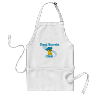 Court Reporter Chick #3 Adult Apron