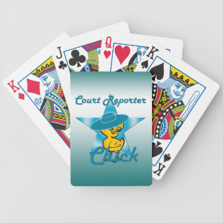 Court Reporter Chick #7 Bicycle Playing Cards
