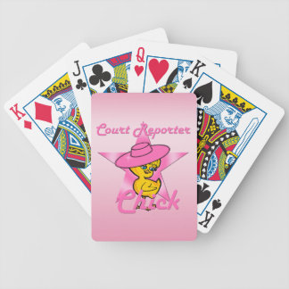 Court Reporter Chick #8 Bicycle Playing Cards