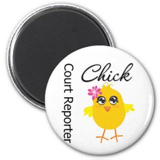 Court Reporter Chick Fridge Magnet