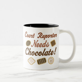 Court Reporter Chocolate Two-Tone Coffee Mug