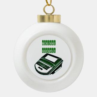Court Reporter Christmas Ornament
