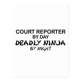 Court Reporter Deadly Ninja Postcard