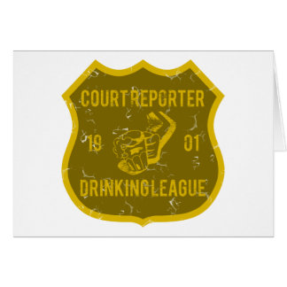 Court Reporter Drinking League Greeting Card