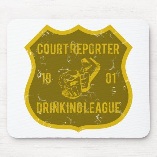 Court Reporter Drinking League Mouse Mat