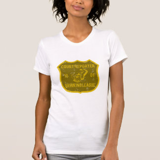 Court Reporter Drinking League Tee Shirts