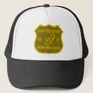 Court Reporter Drinking League Trucker Hat