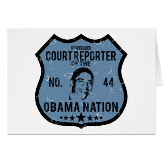 Court Reporter Obama Nation Greeting Card