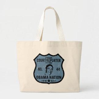 Court Reporter Obama Nation Large Tote Bag