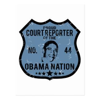 Court Reporter Obama Nation Postcard