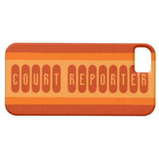 Court reporter orange theme letter iphone 5 case