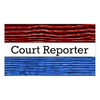 Court Reporter Patriotic Business Card