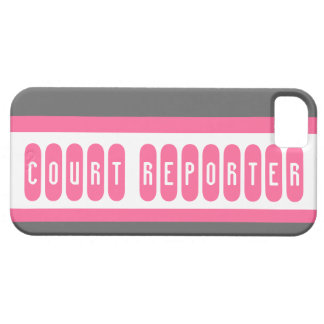 Court Reporter pink gray letter iphone 5 case