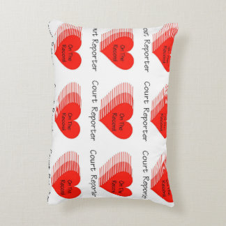 Court Reporter Record Accent Pillow