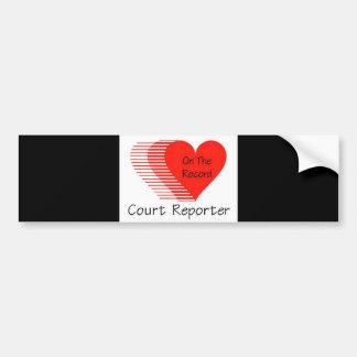 Court Reporter Record Bumper Sticker