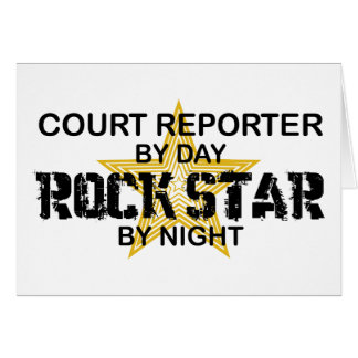 Court Reporter Rock Star Greeting Card