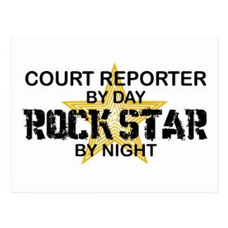 Court Reporter Rock Star Postcard