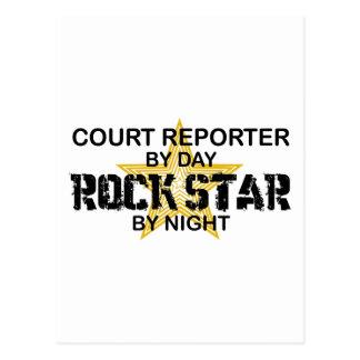 Court Reporter Rock Star Postcards