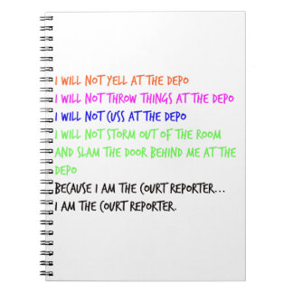 Court Reporter Temper Tantrum Notebook
