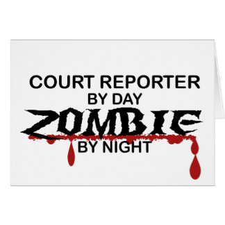 Court Reporter Zombie Greeting Cards