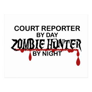Court Reporter Zombie Hunter Postcard