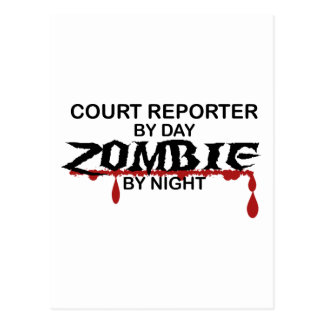 Court Reporter Zombie Post Cards