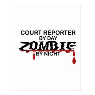 Court Reporter Zombie Postcard