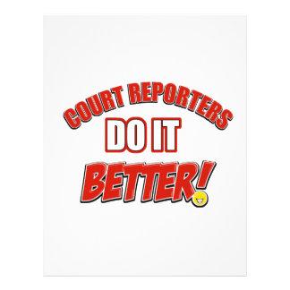 Court Reporters job designs Letterhead Template