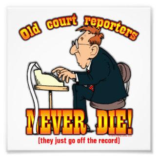 Court Reporters Photo Print