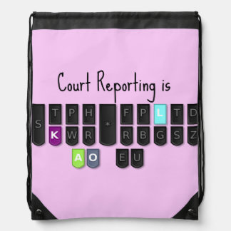 Court Reporting is Cool Steno Keyboard Backpack