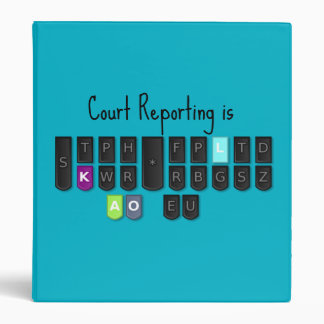 Court Reporting is Cool Steno Keyboard Binder