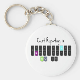 Court Reporting is Cool Steno Keyboard Mugs Basic Round Button Keychain