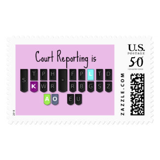 Court Reporting is Cool Steno Keyboard Stamps