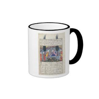 Court Scene in a Garden Ringer Coffee Mug